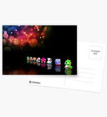 Bubble Bobble retro gaming pixel art Postcards