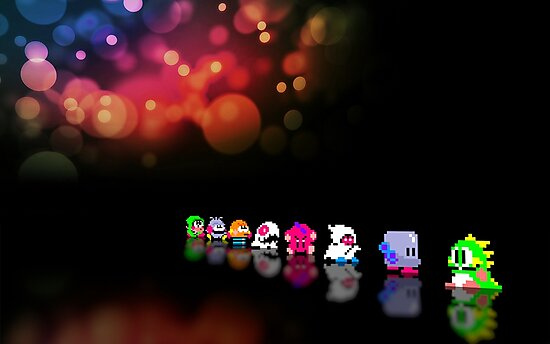 Bubble Bobble retro gaming pixel art by smurfted