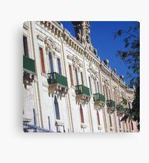 Green balconies Canvas Print