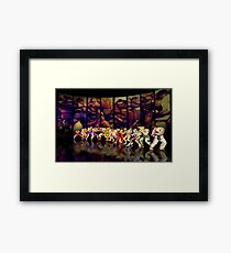 Street Fighter II pixel art Framed Print