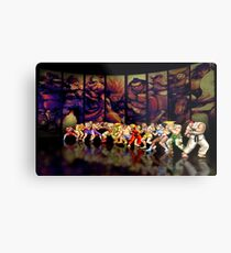 Street Fighter II pixel art Metal Print