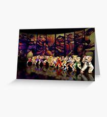 Street Fighter II pixel art Greeting Card