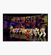 Street Fighter II pixel art Photographic Print