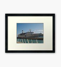 The cruise liner Framed Print