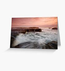 Bar Beach Rock Platform 2 Greeting Card