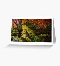 Japanese Oasis Greeting Card
