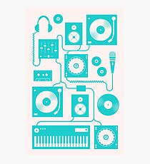 Four To The Floor - Teal Photographic Print