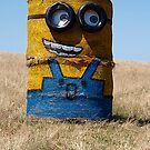 Minion at the west entrance to Warragul  by Bev Pascoe