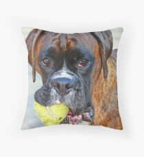 Tennis anyone??... -Boxer Dogs Series- Throw Pillow