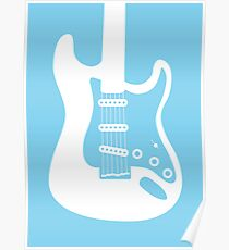 Fender Stratocaster Retro Print Poster