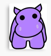 Crumple the Grumpy Hippo Canvas Print