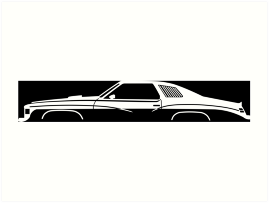 Muscle Car Silhouette 1977 Art Prints By Turnerco Redbubble