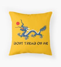 DONT TREAD ON ME QING DYNASTY CHINA EMPIRE GADSDEN FLAG PARODY PCM MEMES Throw Pillow