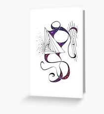 Trienticles Greeting Card