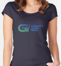CGW | Community Gamers World Women's Fitted Scoop T-Shirt