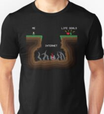 Internet VS Life goals T-Shirt