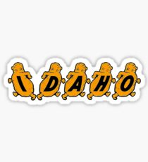 Idaho Potatoes Vintage Travel Decal Sticker