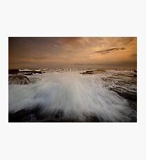 Bar Beach Rock Platform 3 Photographic Print