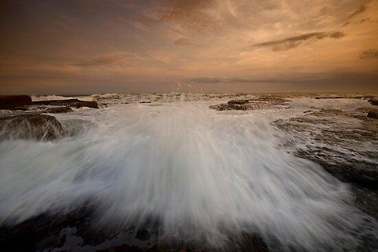 Bar Beach Rock Platform 3 by Mark Snelson