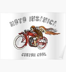 INDIAN MOTORCYCLE MOTO INSANICA Poster