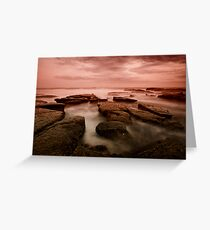 Bar Beach Rock Platform 6 Greeting Card