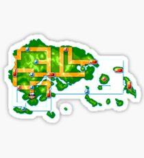 Hoenn map Sticker