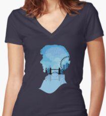 Sherlock's London Women's Fitted V-Neck T-Shirt