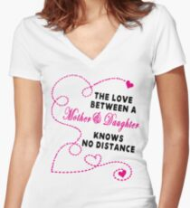 Mother and Daughter - Mother's day Women's Fitted V-Neck T-Shirt