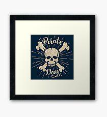 Skull and crossbones Framed Print