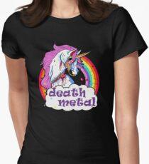 Zombie Einhorn Death Metal Tailliertes T-Shirt für Frauen
