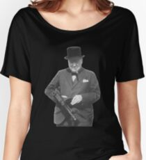 Sir Winston Churchill  Women's Relaxed Fit T-Shirt