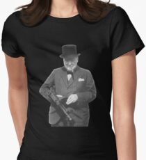 Sir Winston Churchill  Womens Fitted T-Shirt