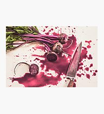 Bloody Beets Photographic Print