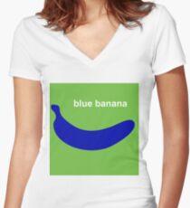 blue banana Women's Fitted V-Neck T-Shirt