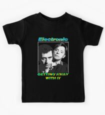 """Joy Division New Order Smiths Electronic """"Getting Away With It"""" design Kids Tee"""