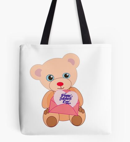 Teddy with mother's day message (5773 views) Tote Bag