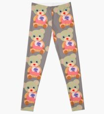 Teddy with mother's day message (5817 views) Leggings