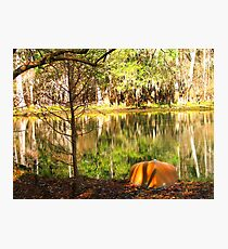 After Canoeing Photographic Print