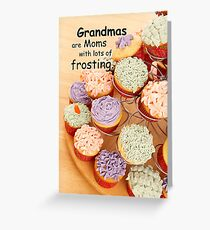 Grandmother Cupcakes Mother's Day Greeting Card