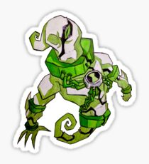 Ben 10 omniverse stickers redbubble the ghostfreak with the most freak ben 10 omniverse sticker voltagebd Images