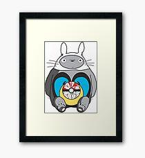 Totoro mashup Framed Print