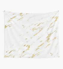 Vasia gold marble Wall Tapestry