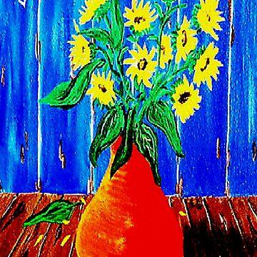 Yellow Daises by kjgordon