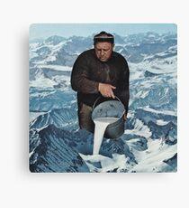 Milky Mountain Canvas Print
