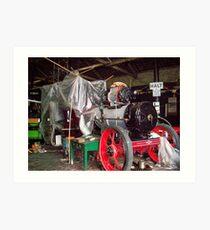 steam engine Art Print