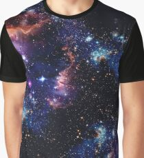 Cosmic Clouds - Black Graphic T-Shirt