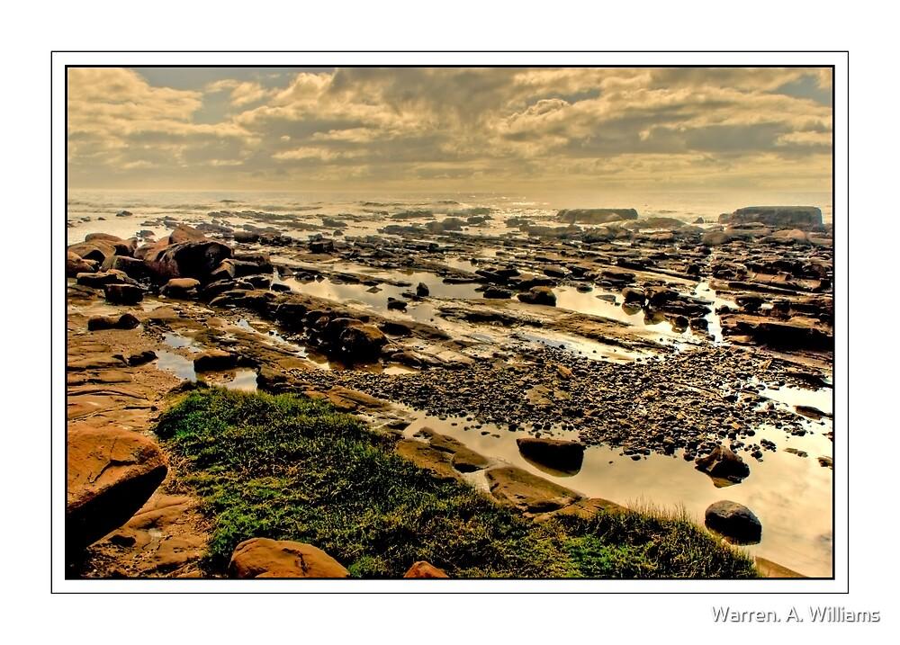 Rocky Pools at Kidd's Beach by Warren. A. Williams