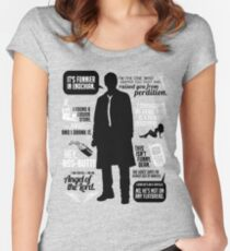 Castiel Quotes Women's Fitted Scoop T-Shirt
