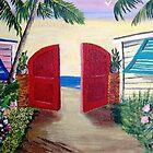 Alley to the Beach by WhiteDove Studio kj gordon