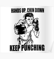 Keep Punching (Boxing) Poster